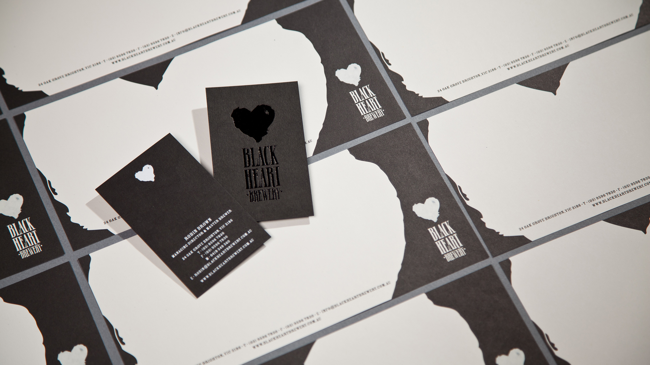 Black Heart Brewery Stationery Suite