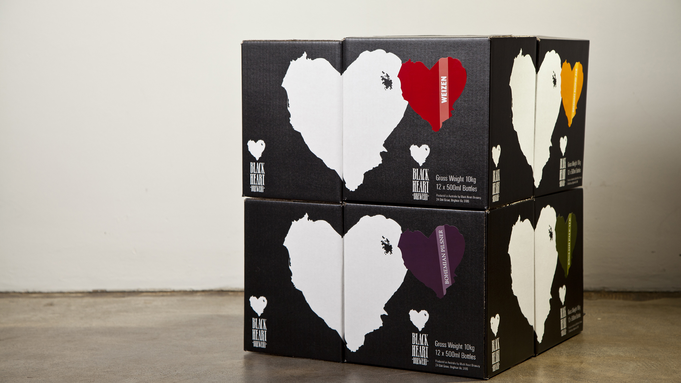 Black Heart Brewery Packaging