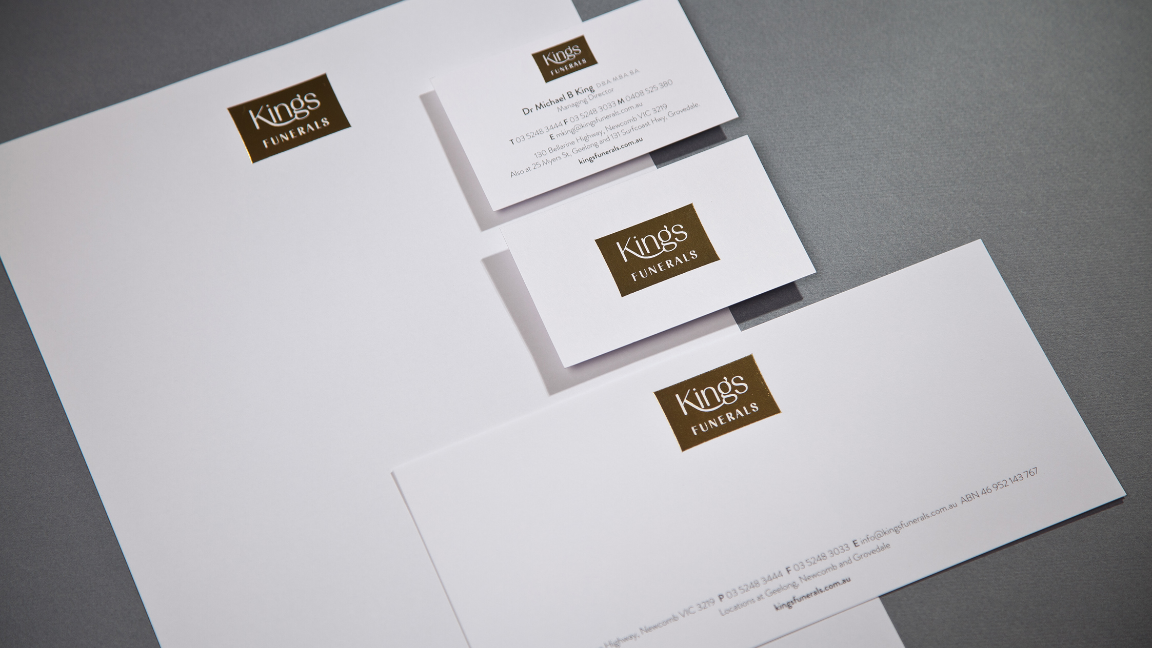 Kings Funerals Stationery Suite